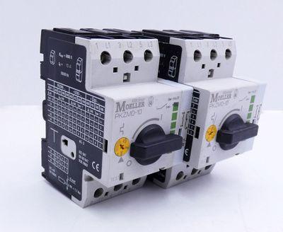 2x Klöckner-Moeller PKZM0-10 + NHI11-PKZ0 Motorschutzschalter -used- – Bild 1