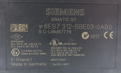Siemens Simatic S7 6ES7312-5BE03-0AB0 E-Stand: 01/V2.0.12 -used- – Bild 2