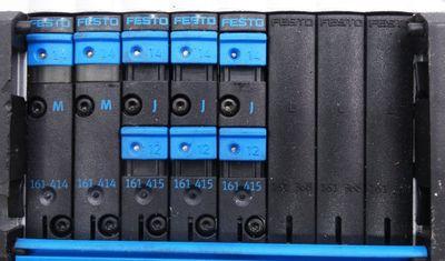 Festo CPV10-GE-MP-8 + CPV-10-VI + CPV10-VI-P8-M7-B + 2x 161414 Ventilinsel -used- – Bild 6