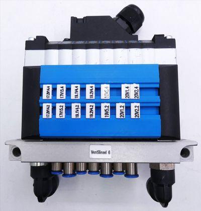 Festo CPV10-GE-MP-8 + CPV-10-VI + CPV10-VI-P8-M7-B + 161416 Ventilinsel -used-  – Bild 5
