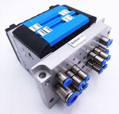 Festo CPV10-GE-MP-6 + CPV-10-VI + CPV10-VI-P6-M7-B + 4x 161415 Ventilinsel -used – Bild 1