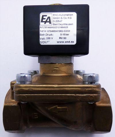 """END-Automation MBMG2Z121664025 0-16bar 230V 50Hz 1"""" Magnetventil -unused- – Bild 3"""