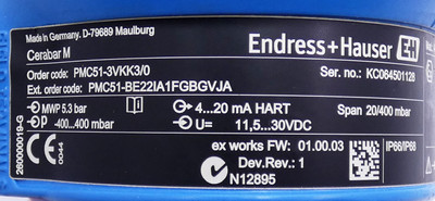 Endress + Hauser Cerabar M PMC51-3VKK3/0 Drucktransmitter -used- – Bild 2