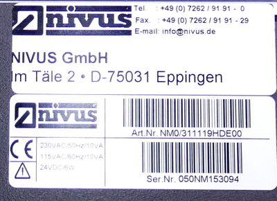 Nivus NivuMaster NM0/311119HDE00 Füllstandsüberwachung -used- – Bild 2