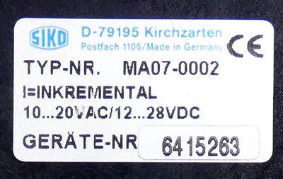 Siko MA07-0002 frei programmierbar 10...20VAC 12...28VDC Messanzeige -used- – Bild 2