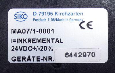 Siko MA07/1-0001 frei programmierbar 24VDC+/-20% Messanzeige -used- – Bild 2
