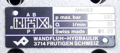 Wandfluh AM4D63 p max. 250 bar Magnetsitzventil -unused- – Bild 2
