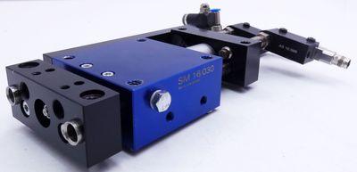 Afag SM 16/030 Linearmodul + 2x Bernstein KIB-Q08PS/1,5-KLSM8 Sensor -used- – Bild 1
