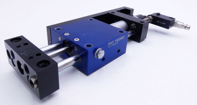 Afag SM 16/060 Linearmodul + Bernstein KIB-Q08PS/1,5-KLSM8 Sensor -used- – Bild 1
