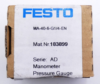 3x Festo MA-40-6-G1/4-EN 183899 0-6 bar Manometer -unused/OVP- – Bild 2