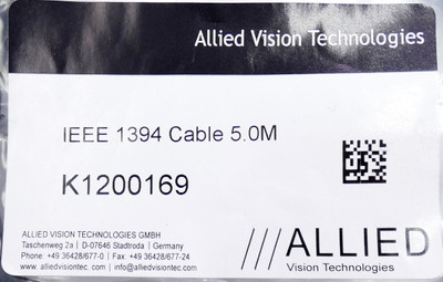 Allied Vision IEEE 1394 K1200169 5,0m Cable -unused/OVP-  – Bild 2