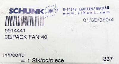 3x Schunk 5514441 FAN 40 Beipack  -unused- – Bild 2