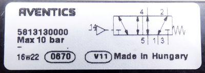 Aventics 5813130000 V581-5/2SR-I3-AIR-AA-X-T0 5/2-Wegeventil -unused- – Bild 2