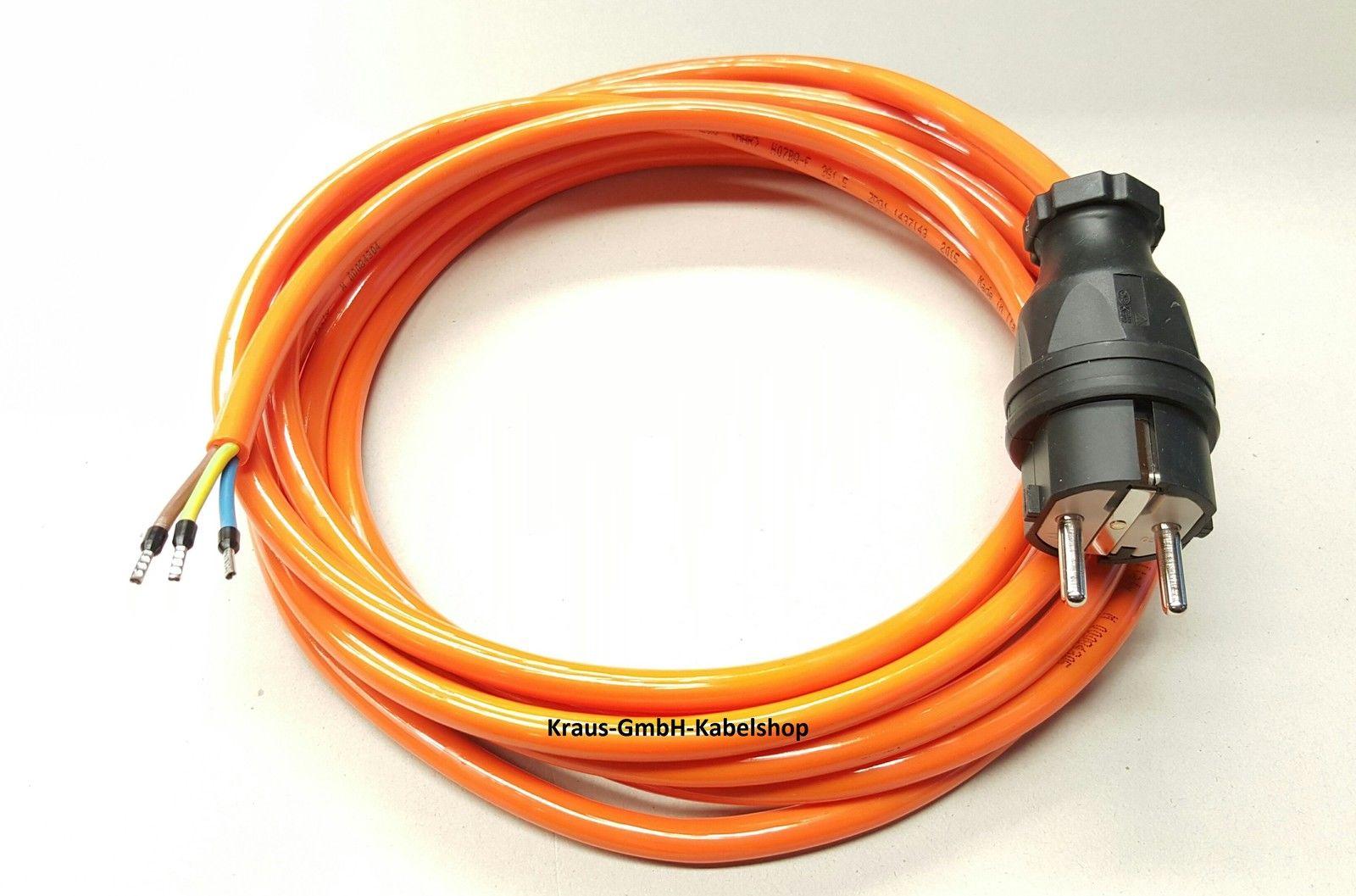 Stromkabel Geräteanschlusskabel Verlängerung PVC H05VV-F 3x1,5 1m schwarz