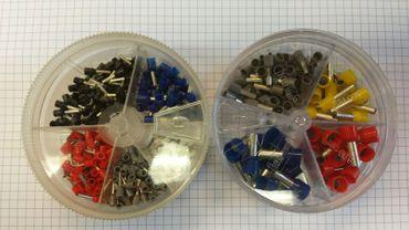 Aderendhülsen Sortiment  Streudose 0,5-2,5mm² oder 4-16mm² Aderendhülsen DIN