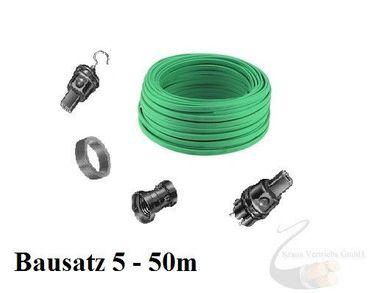 Lichterkette Bausatz Illu Party Biergarten Fassung E27 Made in Germany  ab 5m