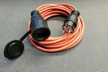 Verlängerungskabel Stromkabel SIHF Silikon  Wärmebeständig 3x1,5  10m IP44