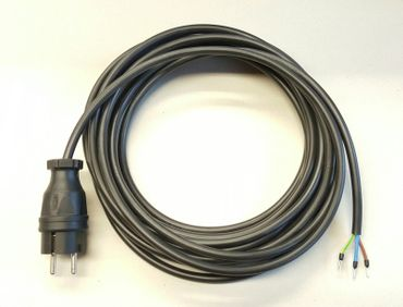 Stromkabel Geräteanschlusskabel Verlängerung PVC H05VV-F 3x1,5 50m schwarz