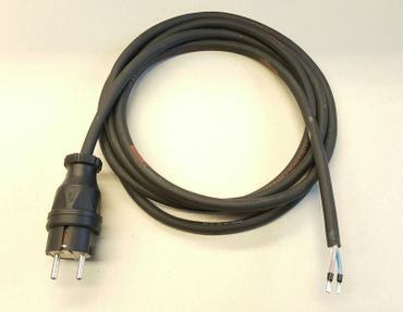 Stromkabel Geräteanschlusskabel Verlängerung H07RN-F 3x1,5 1m schwarz Länge