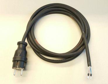 Stromkabel Geräteanschlusskabel Verlängerung H07RN-F 3x1,5 15m schwarz Länge