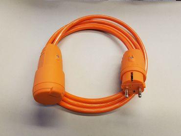 Verlängerungskabel H07BQ-F 3x1,5 Baustelle Kerbfest orangene Stecker  ab 5m IP44