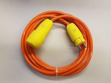 Verlängerungskabel H07BQ-F 3x2,5 Baustelle Kerbfest gelbe Stecker ab 5m IP44