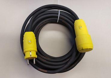 Verlängerungskabel (Aussen) H07RN-F 3x2,5 mit gelben Steckern ab 2m bis 50m IP44