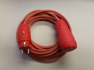Verlängerungskabel SIHF 3x2,5 Wärmebeständig IP44 ab 5m rote Stecker