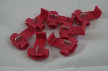 Leitungsverteiler Schneidklemme Abzweigklemme 0,5 - 1,0 mm², rot ab 10 Stück