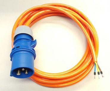 CEE 16A Geräteanschlusskabel Verlängerung H07BQ-F 3x1,5 mm² 50m mit CEE Stecker Geräteanschl. H07BQ-F 3G1,5mm² 50m CEE Stecker