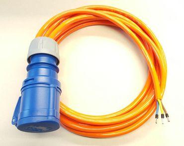 CEE 16A Geräteanschlusskabel Verlängerung H07BQ-F 3x1,5 mm² 50m mit CEE Kupplung Geräteanschl. H07BQ-F 3G1,5mm² 50m CEE Kupplung