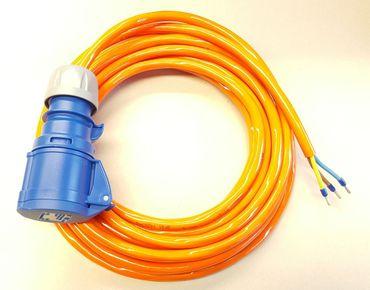 CEE 16A Geräteanschlusskabel Verlängerung H07BQ-F 3x2,5 mm² 20m mit CEE Kupplung Geräteanschl. H07BQ-F 3G2,5mm² 20m CEE Kupplung