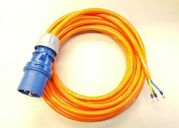 CEE 16A Geräteanschlusskabel Verlängerung H07BQ-F 3x2,5 mm² 25m mit CEE Stecker Geräteanschl. H07BQ-F 3G2,5mm² 25m CEE Stecker