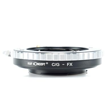 K&F Concept Objektivadapter für Zeiss Contax G System Objektive an Fujifilm Kameras mit X-Bajonett