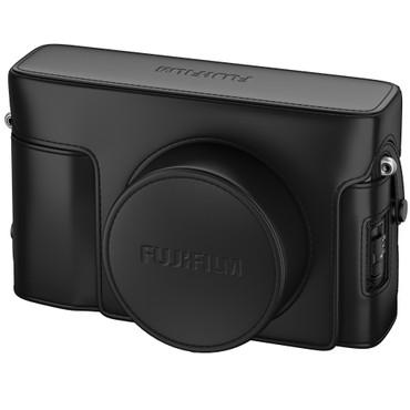 Fujifilm LC- X100V exclusive Echtledertasche im klassischen Design schwarz für X100V