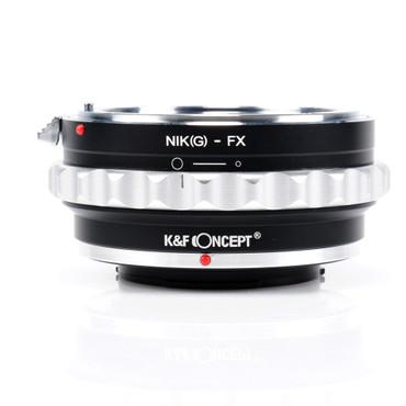 K&F Concept Objektivadapter für Nikon G, F, Ai, Ais, D Objektive an Fujifilm Kamera mit X-Bajonett