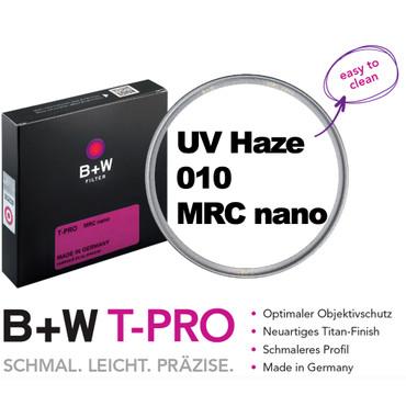 B+W T-PRO UV Haze Schutzfilter 010 MRC nano 49 mm Titan - Finish