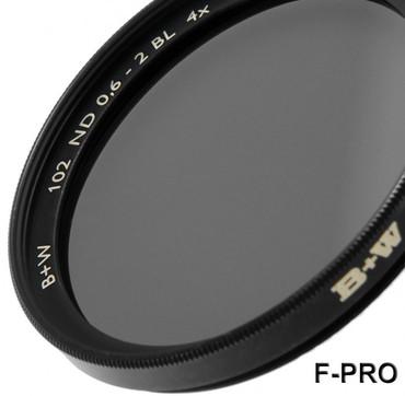 B+W Graufilter 102 ND 0,6  4x  62,0 mm  F-Pro Digital +2 Blenden Einschicht vergütet