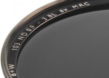 B+W Graufilter 103 ND 0,9  8x  77,0 mm  F-Pro Digital  +3 Blenden MRC vergütet
