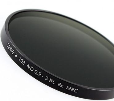 B+W Graufilter 103 ND 0,9  8x   Serie 8 (63,5 mm)   + 3 Blenden MRC vergütet