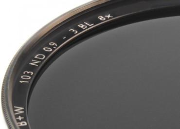 B+W Graufilter 103 ND 0,9  8x  72,0 mm  F-Pro Digital + 3 Blenden Einschicht vergütet