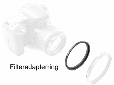 B+W 55,0 mm Filter an 49,0 mm  Objektivgewinde Nr 6a,  Metall Adapterring