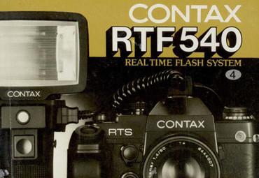 RTF 540 Blitz  Contax Bedienungsanleitung