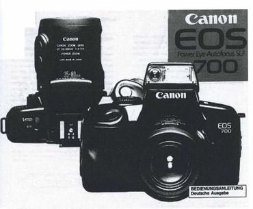"Canon EOS 700 Canon, Bedienungsanleitung ""Nachdruck"","