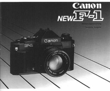 """Canon F-1 Canon """"NEW"""", Bedienungsanleitung """"Nachdruck"""","""