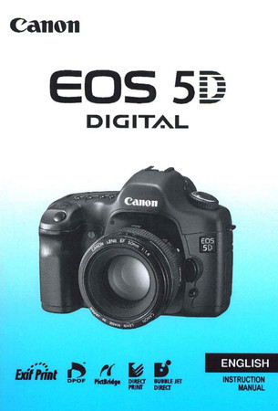 "Canon EOS 5D Digital Canon, Manual Instruction ""English"","