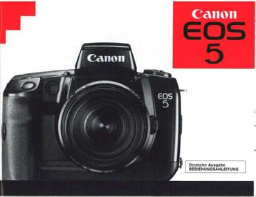 Canon EOS 5 Canon, Bedienungsanleitung Nachdruck