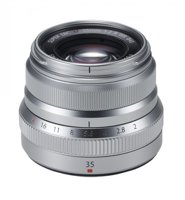 Fujifilm XF-35 mm F2,0 R WR silber  Fujinon