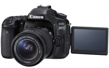 "Canon EOS-80D Kit mit Objektiv  EF-S 18-55/3,5-5,6 IS ""STM"""