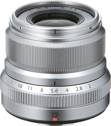 Fujifilm XF-23 mm F2,0 R WR Fujinon silber
